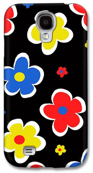 Louisa Galaxy S4 Cases - Junior Florals Galaxy S4 Case by Louisa Knight