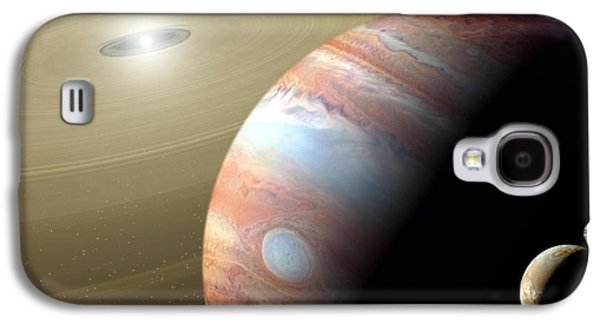 Animation Galaxy S4 Cases - Jupiter and Moon Galaxy S4 Case by Mike Agliolo and Photo Researchers