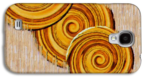 Contemplative Mixed Media Galaxy S4 Cases - Just Bread Galaxy S4 Case by Pepita Selles