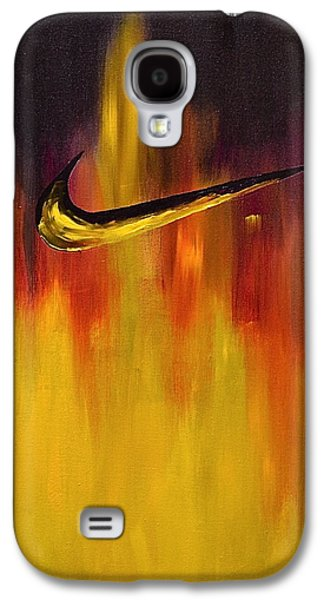Nike Paintings Galaxy S4 Cases - Just Do It Galaxy S4 Case by Herschel Fall