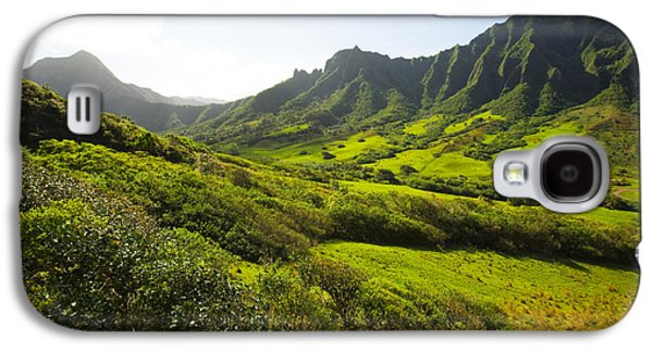 Pastureland Galaxy S4 Cases - Kaaawa valley and Kualoa Ranch Galaxy S4 Case by Dana Edmunds - Printscapes
