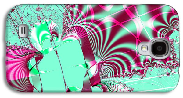 Algorithmic Abstract Galaxy S4 Cases - Kabuki . Square Galaxy S4 Case by Wingsdomain Art and Photography