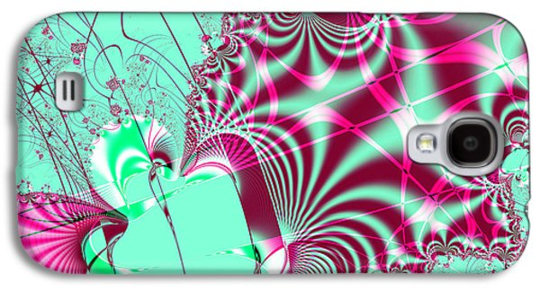 Algorithmic Abstract Galaxy S4 Cases - Kabuki Galaxy S4 Case by Wingsdomain Art and Photography