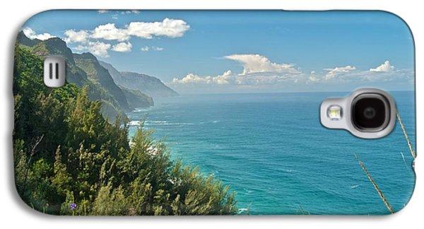 Beach Landscape Galaxy S4 Cases - Kalalau Trail Overlook Galaxy S4 Case by Michael Peychich