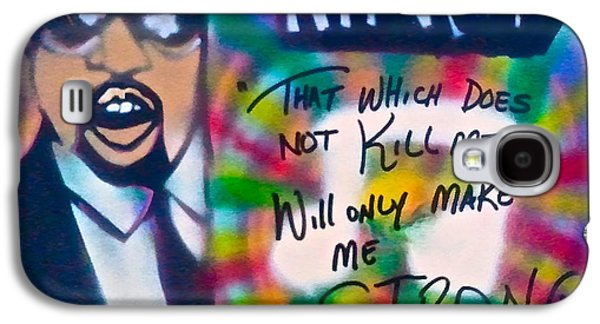 First Amendment Paintings Galaxy S4 Cases - Kanye West Stronger Galaxy S4 Case by Tony B Conscious