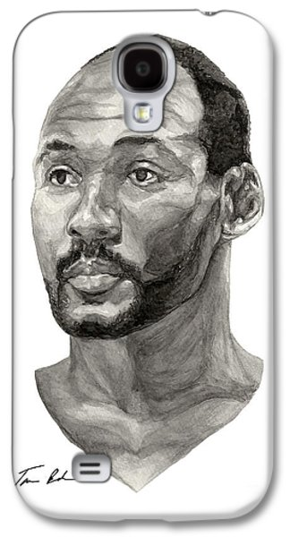 Utah Jazz Paintings Galaxy S4 Cases - Karl Malone Galaxy S4 Case by Tamir Barkan