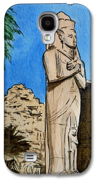 Temple Paintings Galaxy S4 Cases - Karnak Temple Egypt Galaxy S4 Case by Irina Sztukowski