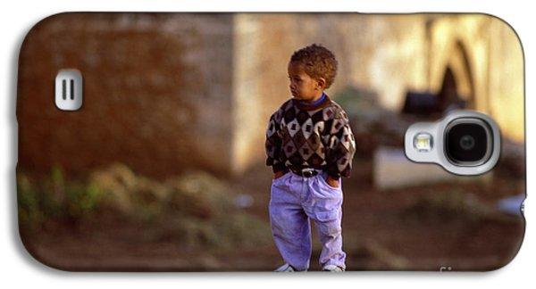 Rabat Photographs Galaxy S4 Cases - Rabat Kasbah Des Oudaias Little Boy Morocco Galaxy S4 Case by Antonio Martinho
