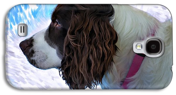 Dogs Digital Art Galaxy S4 Cases - Kaya paint filter Galaxy S4 Case by Steve Harrington