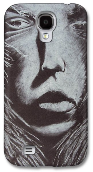 Sepia Chalk Galaxy S4 Cases - Winter Woman Galaxy S4 Case by Casey P