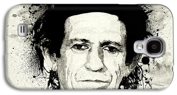 Keith Richards Paintings Galaxy S4 Cases - Keith Galaxy S4 Case by Laurence Adamson