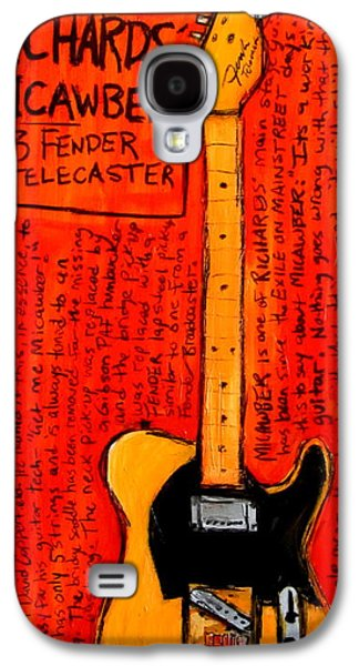 Keith Richards Paintings Galaxy S4 Cases - Keith Richards Micawber Galaxy S4 Case by Karl Haglund