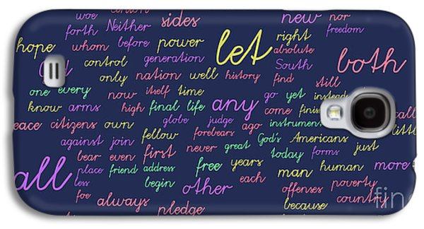 Inauguration Galaxy S4 Cases - Kennedy Inauguration and Lincolns Second - Word Cloud Galaxy S4 Case by David Bearden
