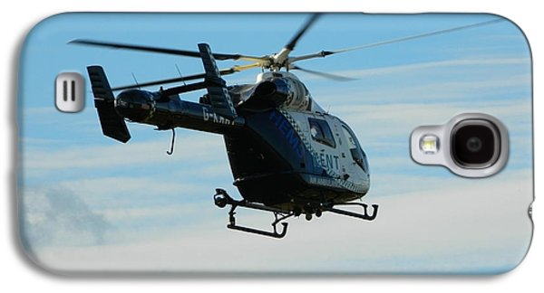 Helicopter Photographs Galaxy S4 Cases - Kent air ambulance Galaxy S4 Case by Sharon Lisa Clarke
