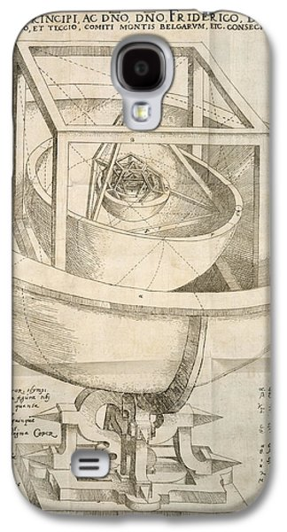 Cosmological Galaxy S4 Cases - Keplers Cosmological Model, Artwork Galaxy S4 Case by Humanities And Social Sciences Libraryrare Books Divisionnew York Public Libraryscience Photo