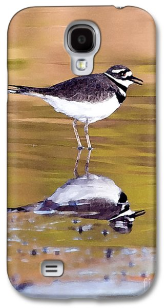 Killdeer Reflection Galaxy S4 Case by Betty LaRue