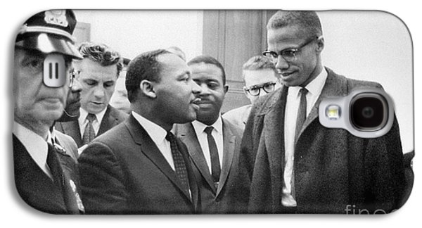 Press Conference Photographs Galaxy S4 Cases - King And Malcolm X, 1964 Galaxy S4 Case by Granger