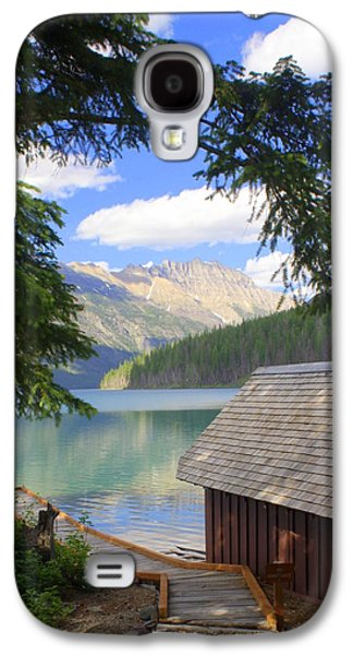 Marty Koch Galaxy S4 Cases - Kintla Lake Ranger Station Glacier National Park Galaxy S4 Case by Marty Koch