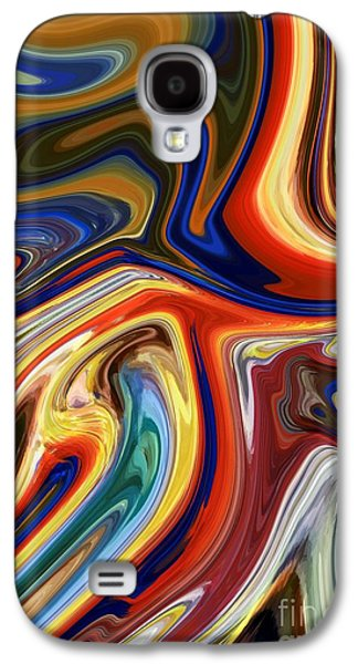 Goldfish Mixed Media Galaxy S4 Cases - Koi Galaxy S4 Case by Chris Butler