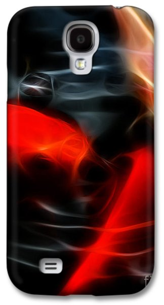 Fish Pond Galaxy S4 Cases - Koi Fish Galaxy S4 Case by Wingsdomain Art and Photography