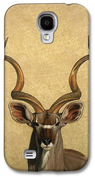 Nature Drawings Galaxy S4 Cases - Kudu Galaxy S4 Case by James W Johnson