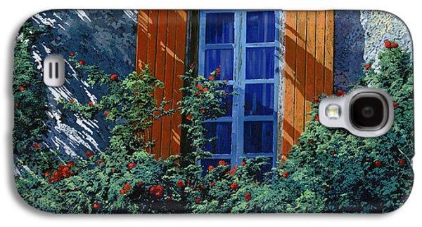 Vase Paintings Galaxy S4 Cases - La Finestra E Le Ombre Galaxy S4 Case by Guido Borelli