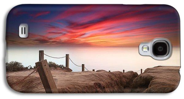 Sun Galaxy S4 Cases - La Jolla Sunset 2 Galaxy S4 Case by Larry Marshall