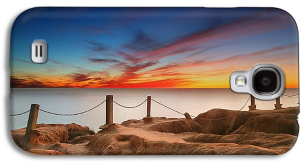 Sun Galaxy S4 Cases - La Jolla Sunset 3 Galaxy S4 Case by Larry Marshall
