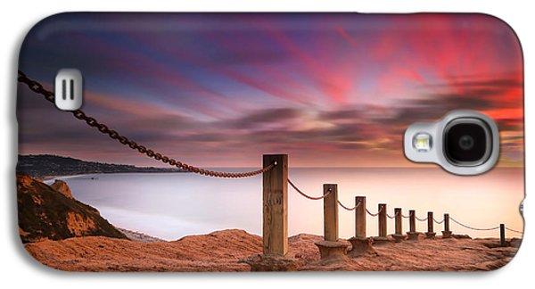Sun Galaxy S4 Cases - La Jolla Sunset 4 Galaxy S4 Case by Larry Marshall