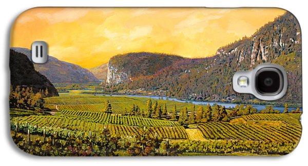 Wine Vineyard Galaxy S4 Cases - La Vigna Sul Fiume Galaxy S4 Case by Guido Borelli
