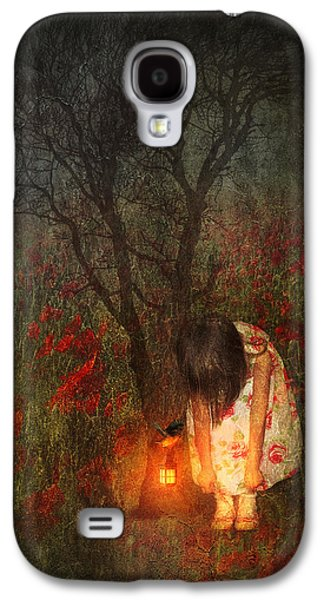 Little Girls Mixed Media Galaxy S4 Cases - Laces Undone Galaxy S4 Case by Svetlana Sewell