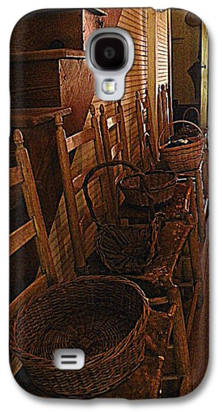 Ladder Back Chairs Galaxy S4 Cases - Ladder Backs and Baskets I Galaxy S4 Case by Sheri McLeroy