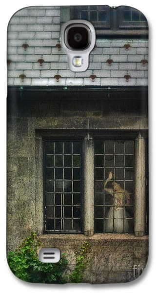 Ball Gown Photographs Galaxy S4 Cases - Lady by Window of Tudor Mansion Galaxy S4 Case by Jill Battaglia
