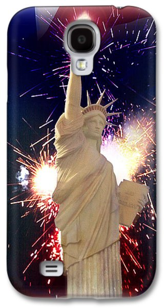 4th July Mixed Media Galaxy S4 Cases - Lady Liberty Galaxy S4 Case by Gravityx Designs
