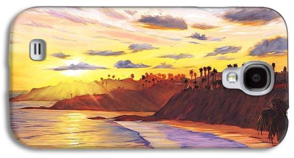 Beach Sunsets Galaxy S4 Cases - Laguna Village Sunset Galaxy S4 Case by Steve Simon