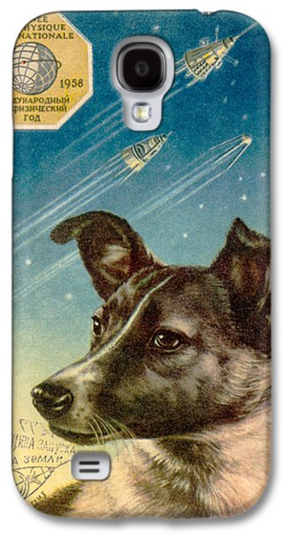 Technological Photographs Galaxy S4 Cases - Laika The Space Dog Postcard Galaxy S4 Case by Detlev Van Ravenswaay