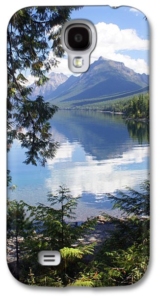 Marty Koch Galaxy S4 Cases - Lake McDlonald Through the Trees Glacier National Park Galaxy S4 Case by Marty Koch