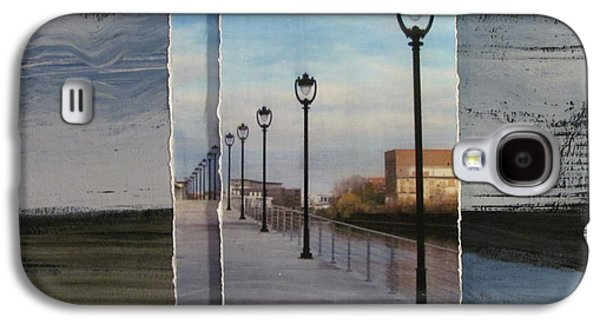 Lamp Post Mixed Media Galaxy S4 Cases - Lamp Post Row layered Galaxy S4 Case by Anita Burgermeister