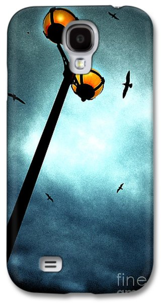 Lamp Galaxy S4 Cases - Lamps With Birds Galaxy S4 Case by Meirion Matthias