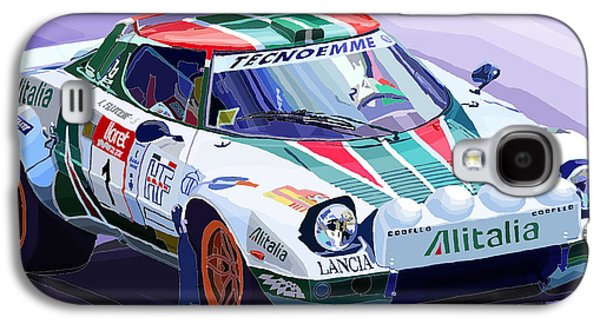 Realism Mixed Media Galaxy S4 Cases - Lancia Stratos Alitalia Rally Catalonya Costa Brava 2008 Galaxy S4 Case by Yuriy  Shevchuk