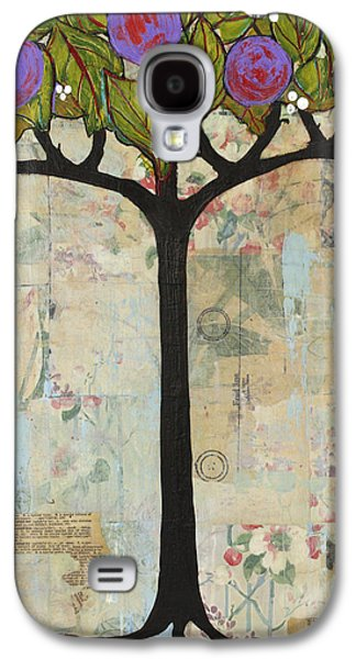 Fruit Tree Art Galaxy S4 Cases - Landscape Art Tree Painting Past Visions Galaxy S4 Case by Blenda Studio