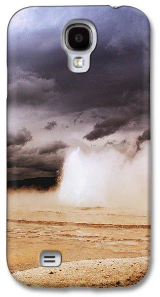 Yellowstone Digital Galaxy S4 Cases - Landscapes of Yellowstone - Great Fountain Geyser Galaxy S4 Case by Ellen Heaverlo