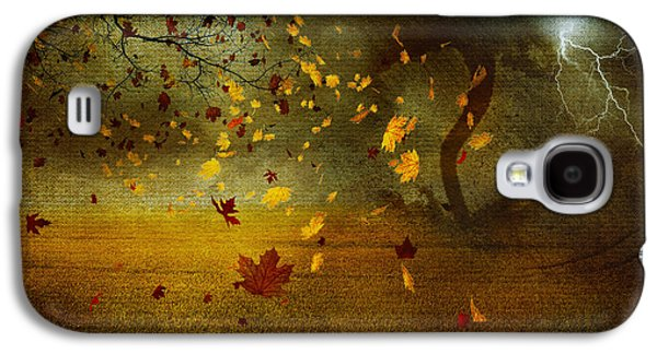 Nature Scene Mixed Media Galaxy S4 Cases - Late october Galaxy S4 Case by Svetlana Sewell