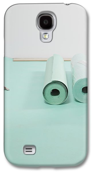 Lino Photographs Galaxy S4 Cases - Laying A Floor. Rolls Of Underlay Or Galaxy S4 Case by Magomed Magomedagaev