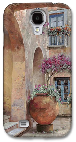 Renaissance Paintings Galaxy S4 Cases - Le Arcate In Cortile Galaxy S4 Case by Guido Borelli