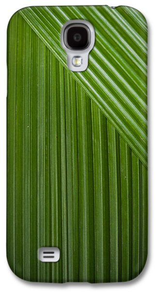 Abstract Nature Pyrography Galaxy S4 Cases - Leaf on line Galaxy S4 Case by Juan Carlos Lopez
