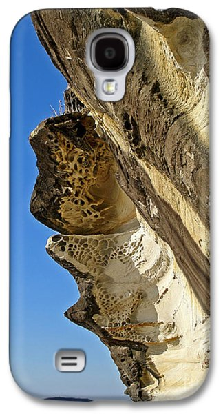 Holes In Sandstone Galaxy S4 Cases - Leaning Rock Galaxy S4 Case by Kaye Menner