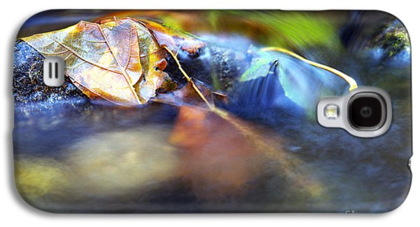 Autumn Leaf On Water Galaxy S4 Cases - Leaves on Rock in Stream Galaxy S4 Case by Sharon  Talson