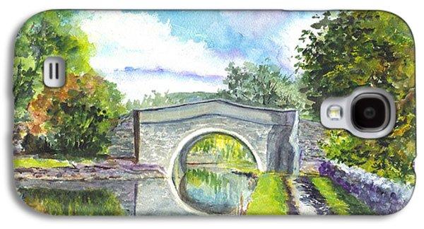 Landscape Acrylic Prints Drawings Galaxy S4 Cases - Leeds Canal Liverpool Galaxy S4 Case by Carol Wisniewski
