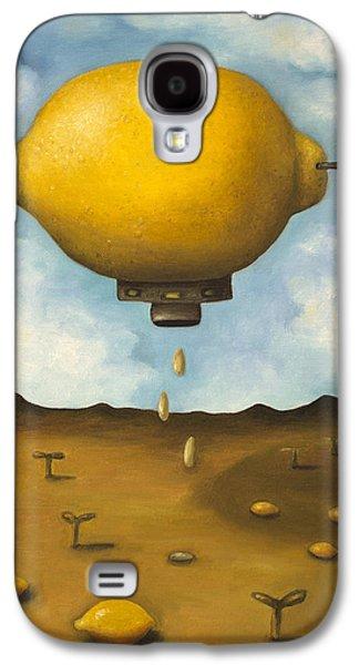 Surreal Landscape Galaxy S4 Cases - Lemon Drops Galaxy S4 Case by Leah Saulnier The Painting Maniac